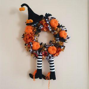 Halloweeni boszorkány kopogtató
